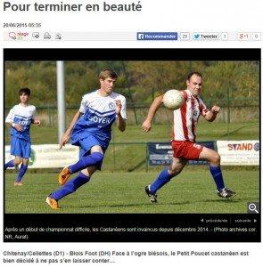 Article FINALE Coupe Loir et Cher 1